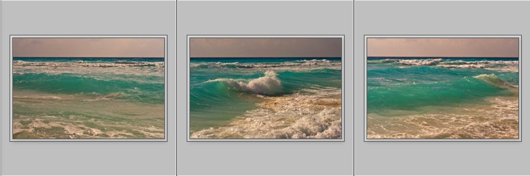 Crashing Wave - Thumbnails Triptych